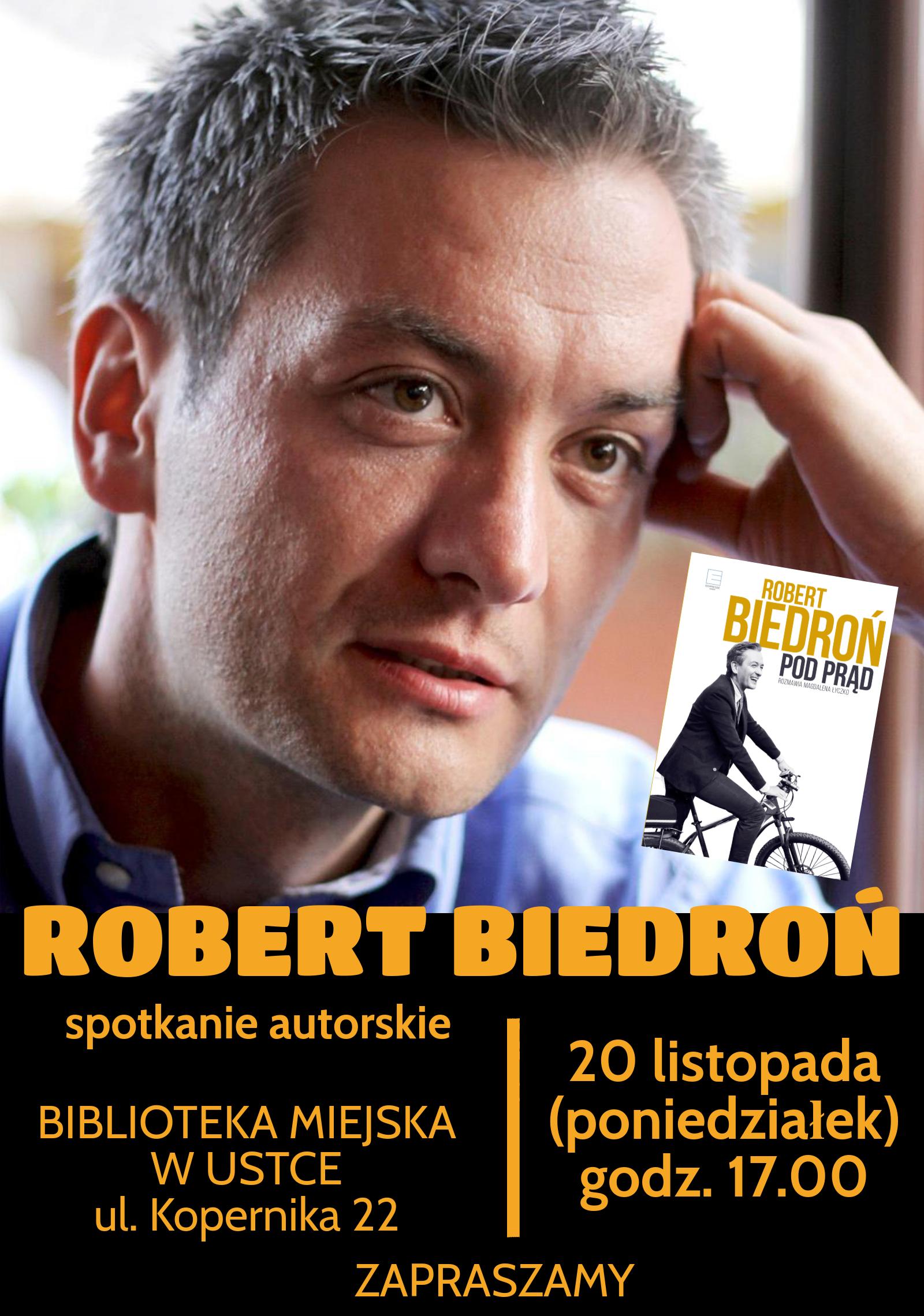 Robert Biedroń - spotkanie autorskie plakat