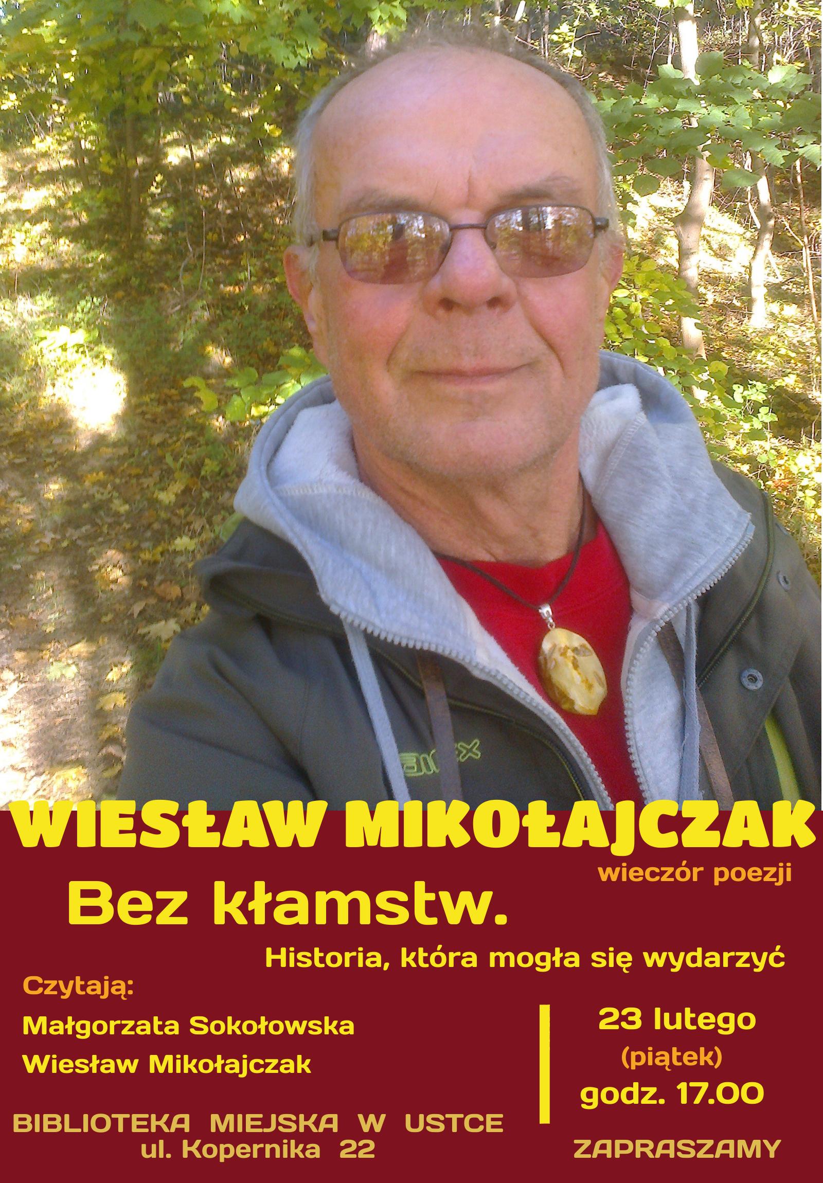 Wiesław Mikolajczak wieczór poezji plakat
