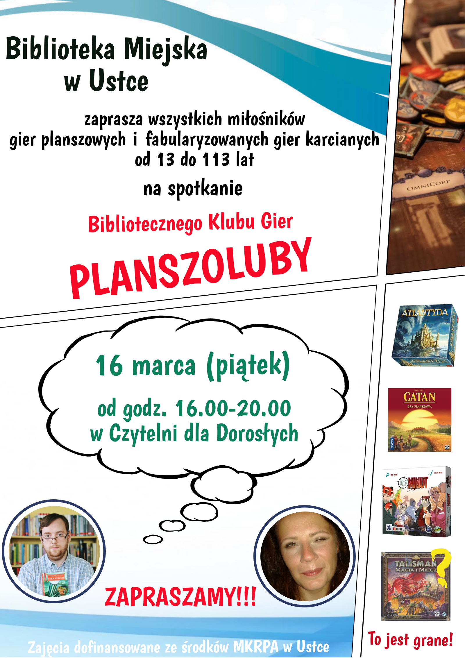 plakat spotkania Planszolubów